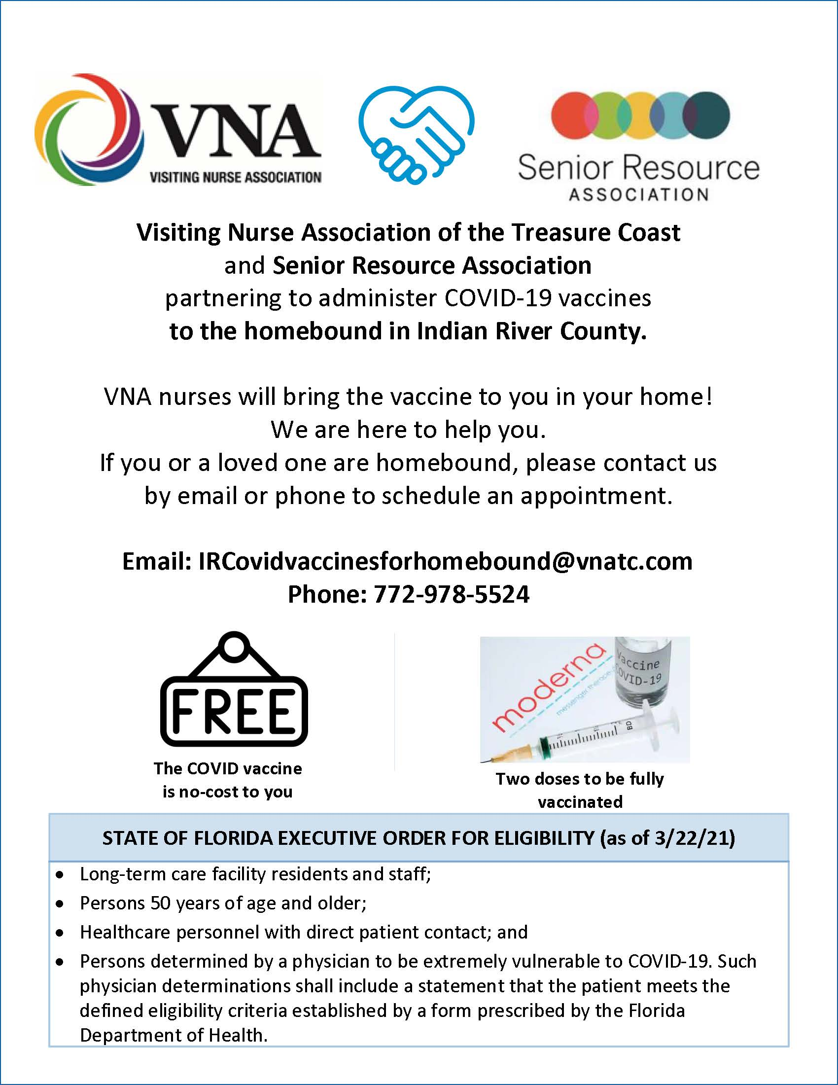 Indian River County Homebound Vaccine Flyer