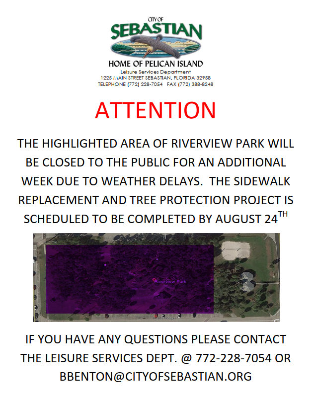 Image of park with highlight and information