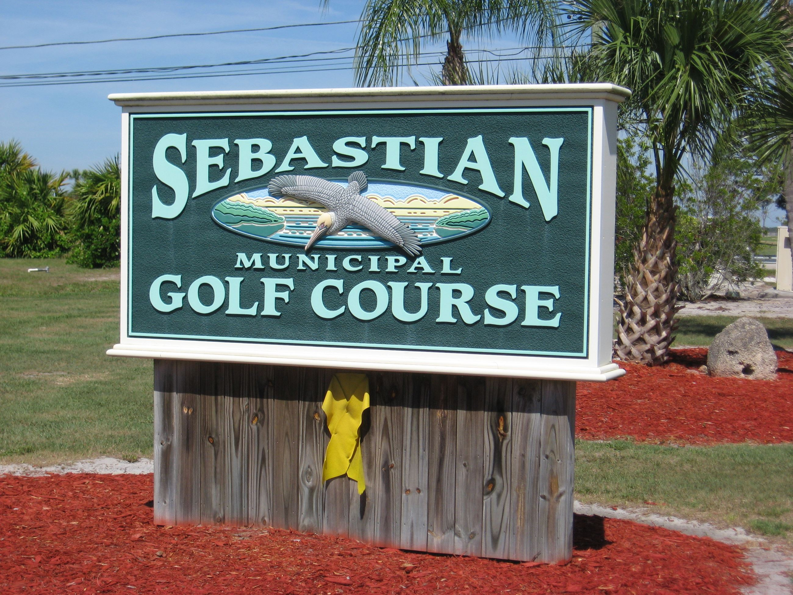 The Sebastian Municipal Golf Course Sign