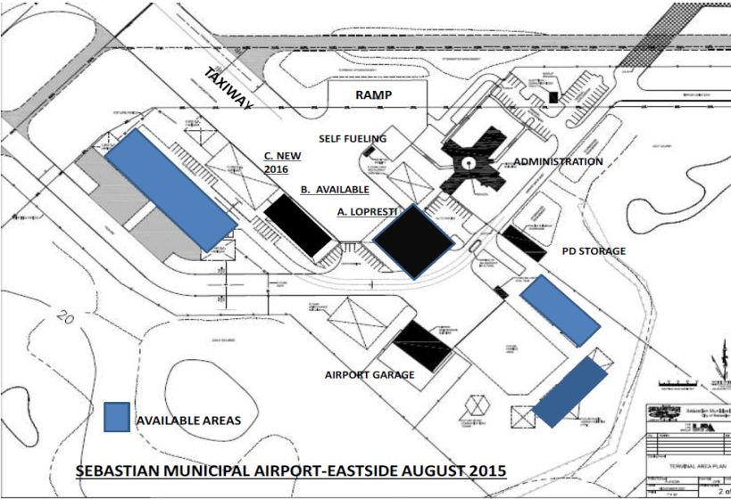 Building site availability surrounding Airport Eastside complex